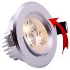 Pakreipiami LED šviestuvai