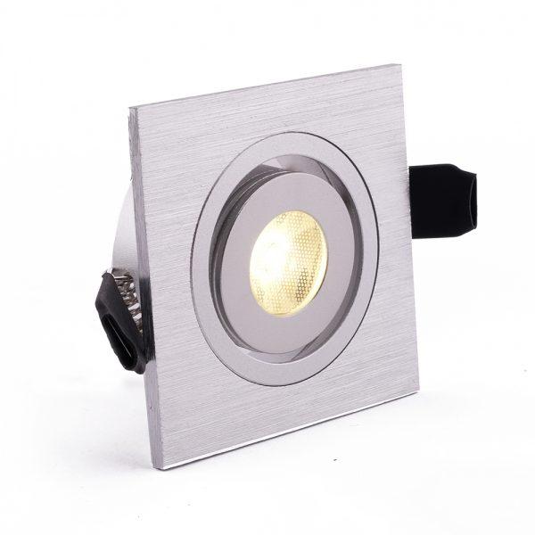 1W LED šviestuvas sidabrinės spalvos šviečiantis pakalimams