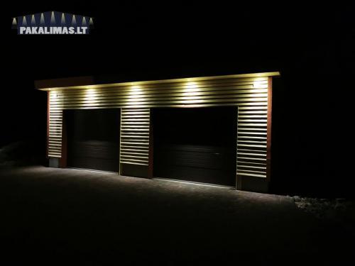 Garažo pakalimų apšvietimas 1