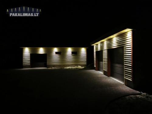 Garažo pakalimų apšvietimas 2